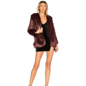 NEW Lovers and Friends Adora Fur coat